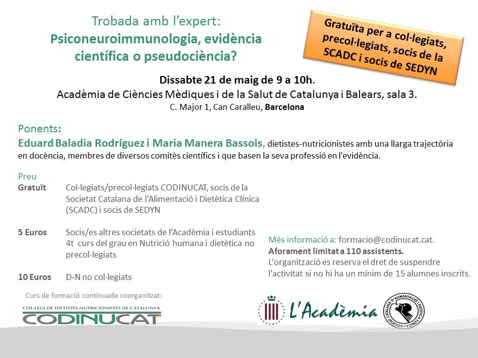 Psiconeuroinmunología: Debate gratuito para socios de SEDYN