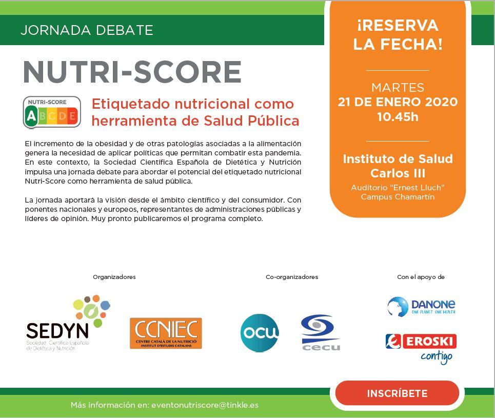 Jornada de debate «Nutri-score: Etiquetado nutricional como herramienta de Salud Pública»