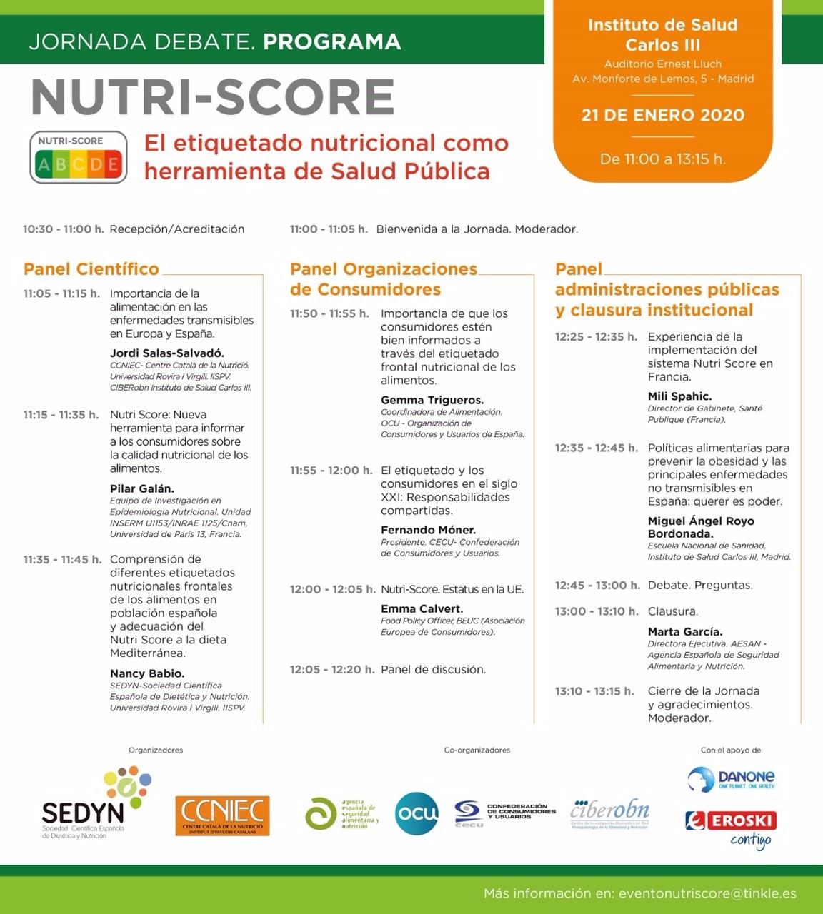 Programa «Nutri-score: el etiquetado nutricional como herramienta de Salud Pública»