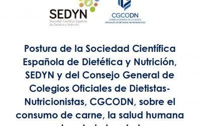 Postura de SEDYN y CGCODN sobre el consumo de carne, la salud humana y la salud planetaria